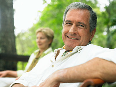 Smiling man with NobelPearl™ Implants McNickle Family Dentistry, Beaverton, OR